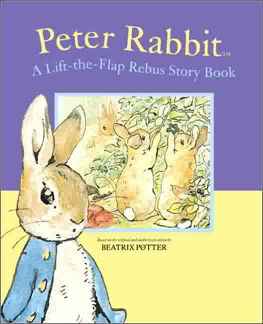Peter Rabbit lift the flap rebus